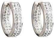 Stříbrné náušnice kruhy Swarovski elements 31120.1