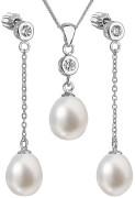 Sada stříbrný šperků s se zirkony a perlami 29005.1
