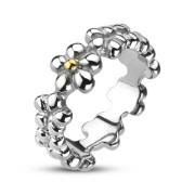 Ocelový prsten Spikes 2004
