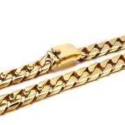 Ocelový řetěz na krk zlatý WJ156