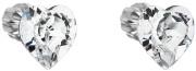 Stříbrné náušnice pecky  srdíčka s kamínky Swarovski 31139.1