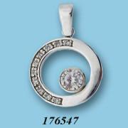 Stříbrný přívěsek se zirkony 176547