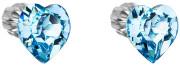 Dámské stříbrné náušnice srdíčka 31139.3 Modrá
