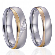 Ocelové snubní prsteny SPPL020