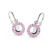 Dětské náušnice z bílého zlata Cutie Jewellery C2750B Pink