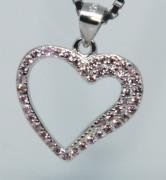 Stříbrný přívěsek srdce 304733