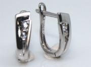 Visací stříbrné náušnice se zirkony 306058