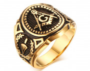 Pánský pečetní prsten SERC268 - Zednáři