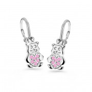 Dětské naušnice zlaté Cutie Jewellery C2751B Pink