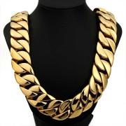 Zlatý pánský ocelový řetěz WJHN01-GD