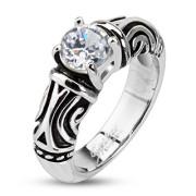 Ocelový prsten Spikes 2245