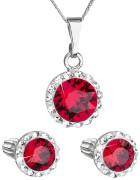 Souprava šperkůl Swarovski elements 39352.3 Červená