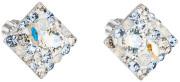 Stříbrné náušnice pecky s kamínky Swarovski 31169.3 Light Sapphire