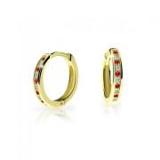 Zlaté náušnice kroužky Cutie Jewellery C3343Z-Rubínová