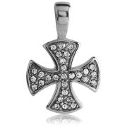 Maltézský kříž se zirkony 131