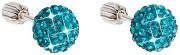 Náušnice na šroubek kuličky se Swarovski elements 31111.3 Blue zirkon