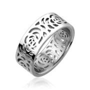Ocelový prsten Spikes 1872