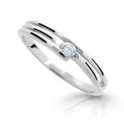 Prsten se zirkonem stříbro 1717