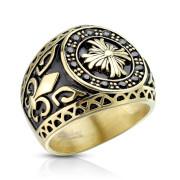 Pánský prsten z chirurgické oceli 6813