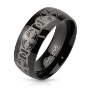 Pánský ocelový prsten Spikes 3898