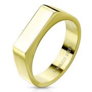 Pečetní prsten pozlacený SERM7686G