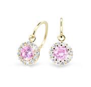 Zlaté dětské náušnice Cutie Jewellery C2745Z-pink