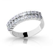 Stříbrný prsten se zirkony 2073