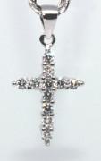 Stříbrný křížek se zirkony 305922