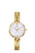 Zlaté kovové hodinky Dugena Elin 4460669