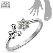 Stříbrný prsten s kamínky SETRSS006