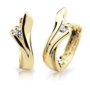 Zlaté náušnice s kamínky Cutie Jewellery Z6434Z