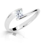 Prsten se zirkonem stříbro 2037