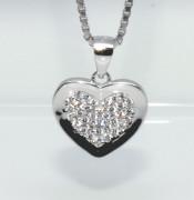 Stříbrný přívěsek srdce 307717