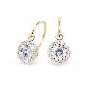 Zlaté dětské náušnice Cutie Jewellery C2745Z-White