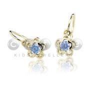 Zlaté dětské náušnice C2204Z Arctic Blue