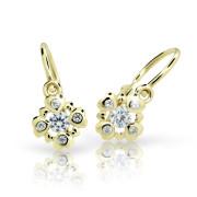 Zlaté naušnice dětské Cutie Jewellery C2253Z White