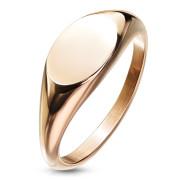 Ocelový pečetní prsten dámský SERM7688RD