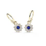 Náušnice pro miminko zlaté Cutie Jewellery C2749Z-Modrá