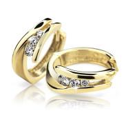 Zlaté náušnice s kamínky Cutie Jewellery Z6433Z