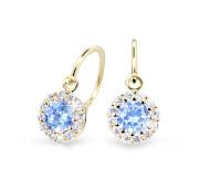 Zlaté dětské náušnice Cutie Jewellery C2745Z-Arctic Blue
