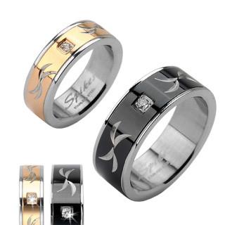 Ocelový prsten Spikes 1621