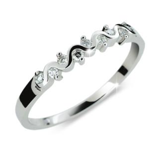 Stříbrný prsten se zirkony 2086