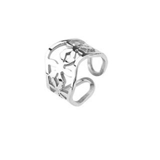 Ocelový prsten Spikes 0013
