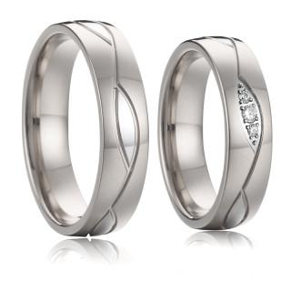 Ocelové snubní prsteny SPPL019