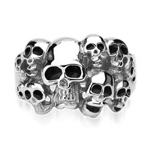 Ocelový prsten Spikes-7684