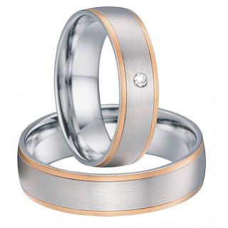Ocelové snubní prsteny SPPL025