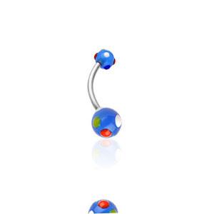Piercing pupíku 1622-BLUE