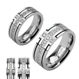 Ocelový prsten Spikes SERH1004