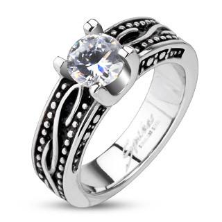 Ocelový prsten Spikes 2247