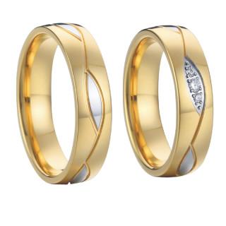 Ocelové snubní prsteny SPPL006